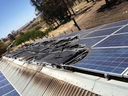 Burnt Solar Panels